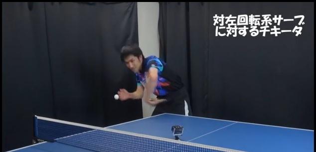 対左回転系サーブに対するチキータ・T.O.M卓球倶楽部 松渕健一選手