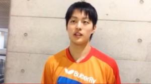 平成25年度 全日本卓球選手権-男子ダブルス優勝・青森山田高校・三部航平選手インタビュー