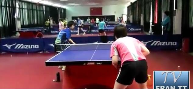 中国女子練習動画