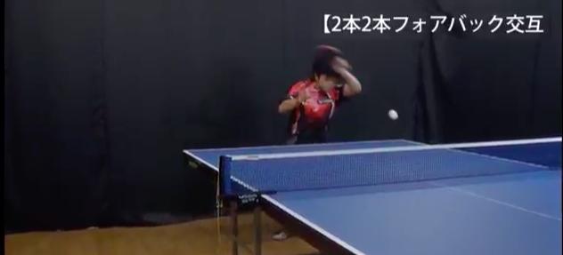 2本2本フォアバック交互・Meiji c.s.c 宇田幸矢選手