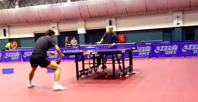 中国 張継科 多球練習1 卓球動画