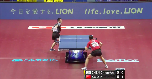 2014世界卓球 7日目 男子準決勝結果 中国VS台湾