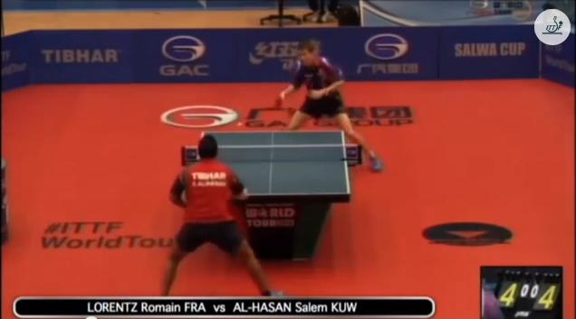 Kuwait Open 2014 Highlights: Romain Lorentz vs Al-Hasan Salem 卓球動画