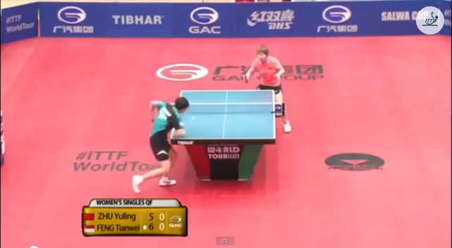 Kuwait Open 2014 Highlights: Feng Tianwei vs Zhu Yuling (1/4 Final) 卓球動画