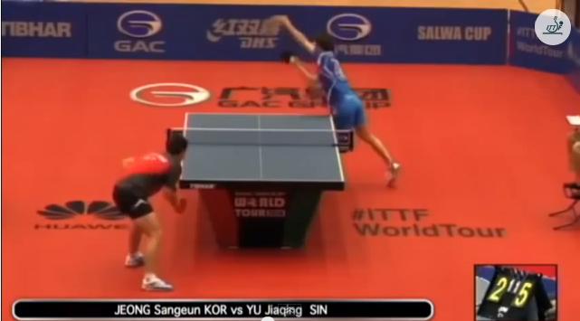 Kuwait Open 2014 Highlights: Jeong Sang Eun vs Yu Jiaqing 卓球動画