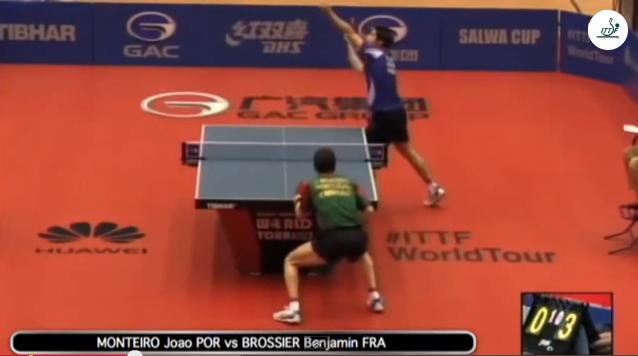 Kuwait Open 2014 Highlights: Joao Monteiro vs Benjamin Brossier 卓球動画