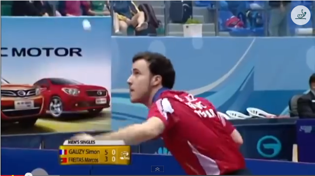 Kuwait Open 2014 Highlights: Marcos Freitas vs Simon Gauzy 卓球動画