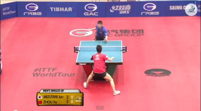 Kuwait Open 2014 Highlights: 水谷隼 vs Zhou Yu (1/4 Final) 卓球動画