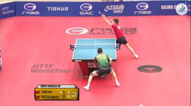 Kuwait Open 2014 Highlights: Yan An vs Marcos Freitas (1/4 Final) 卓球動画