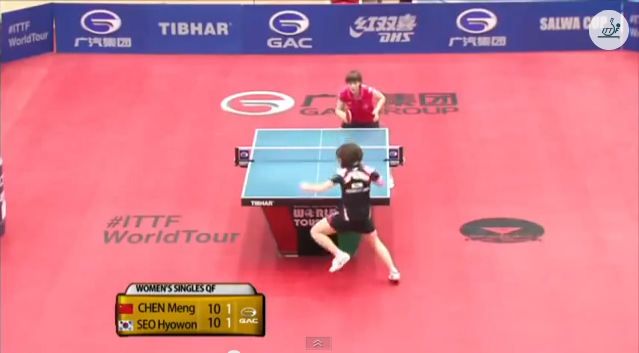 Kuwait Open 2014 Highlights: Chen Meng vs Seo Hyowon (1/4 Final) 卓球動画