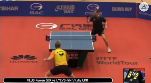 Kuwait Open 2014 Highlights: Ruwen Filus vs Vitaly Lyevshyn 卓球動画