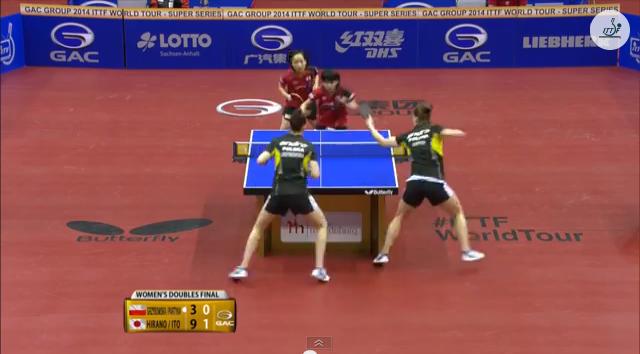 German Open 2014 Highlights: Grzybowska/Partyka Vs 伊藤/平野 (Final) 卓球動画