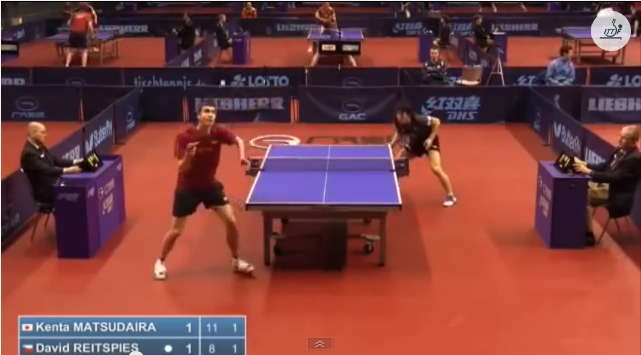 German Open 2014 Highlights: 松平賢二 vs Reitspies David (Q. Group) 卓球動画
