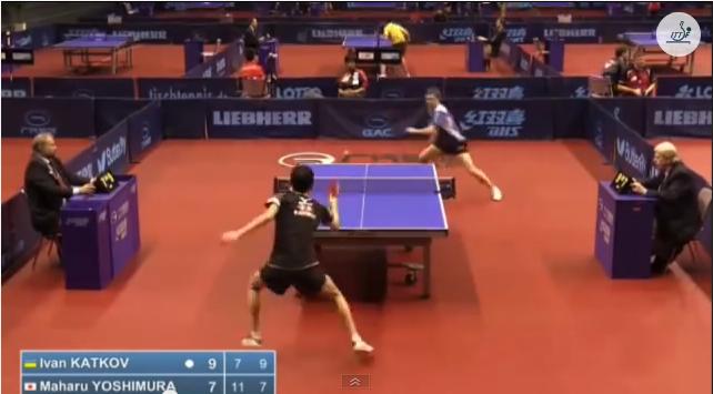 German Open 2014 Highlights: 吉村真晴 vs Katkov Ivan (Pre. Round) 卓球動画