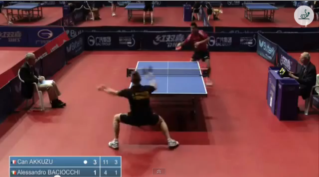 Croatia Open 2014 Highlights: Can Akkuzu Vs Alessandro Baciocchi (Q. Group) 卓球動画
