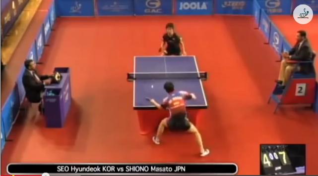 Qatar Open 2014 Highlights: 塩野真人 vs Seo Hyundeok 卓球動画