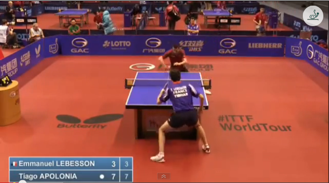 German Open 2014 Highlights: Emmanuel Lebesson vs Tiago Apolonia (Round 1) 卓球動画