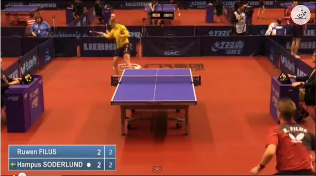 German Open 2014 Highlights: Filus Ruwen vs Soderlund Hampus (Q.Group) 卓球動画