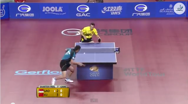 Qatar Open 2014 Highlights: 許昕 vs Gao Ning (1/4 Final) 卓球動画