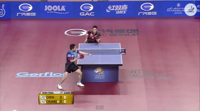 Qatar Open 2014 Highlights: 荘智淵 vs Chen Chien-An (1/2 Final)  卓球動画
