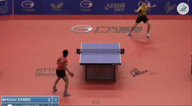 Spanish Open 2014 Highlights: Antoine Hachard Vs 三部航平 (U21 Quarter Final) 卓球動画