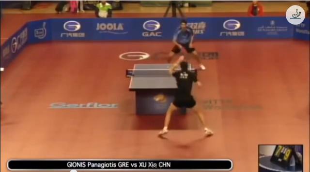 Qatar Open 2014 Highlights: 許昕 vs Gionis Panagiotis 卓球動画