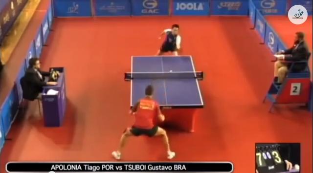 Qatar Open 2014 Highlights: Tiago Apolonia vs Gustavo Tsuboi 卓球動画