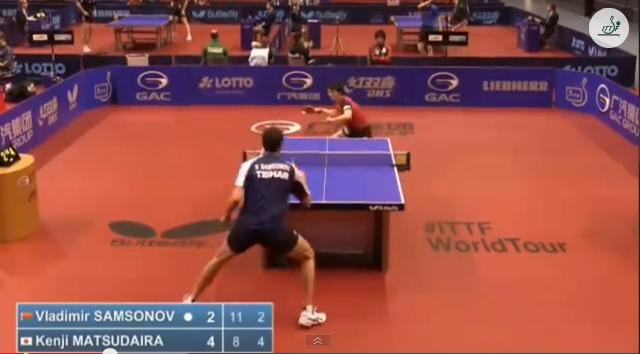 German Open 2014 Highlights: Vladimir Samsonov vs 松平賢二 (Round 1) 卓球動画