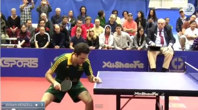 Australia Open 2014 Highlights: William Henzell Vs Zhikang Wu (Semifinal) 卓球動画
