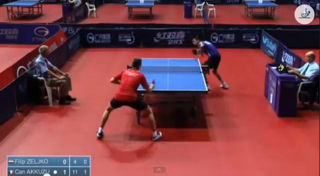 Croatia Open 2014 Highlights: Can Akkuzu Vs Filip Zeljko (U21 Round1) 卓球動画