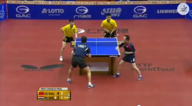 German Open 2014 Highlights: Lyu Xiang / 王皓 Vs Tan Ruiwu / Wang Zengyi (Final)  卓球動画