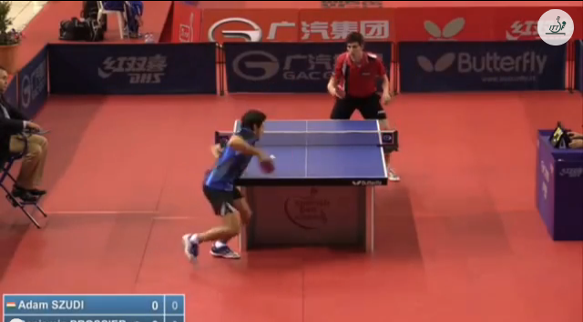 Spanish Open 2014 Highlights: Benjamin Brossier Vs Adam Szudi (U21 Round 1) 卓球動画