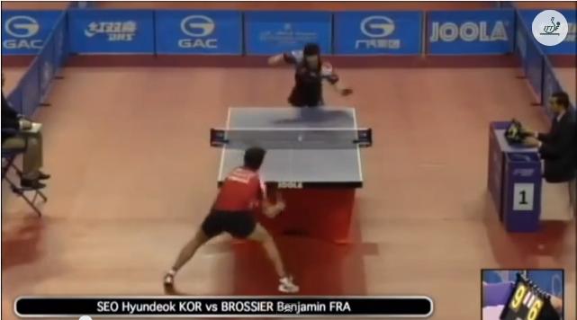 Qatar Open 2014 Highlights: Seo Hyundeok vs Benjamin Brossier 卓球動画