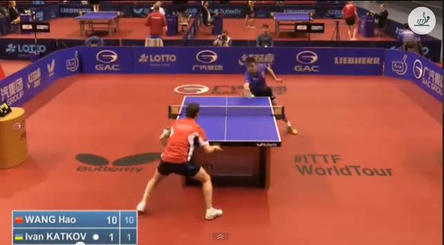 German Open 2014 Highlights: 王皓 vs Katkov Ivan (Round 1) 卓球動画