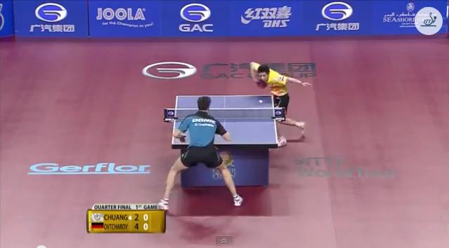 Qatar Open 2014 Highlights: Dimitrij Ovtcharov vs 荘智淵 (1/4 Final)  卓球動画