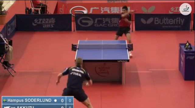 Spanish Open 2014 Highlights: Can Akkuzu Vs Hampus Soderlund (Q. Group) 卓球動画