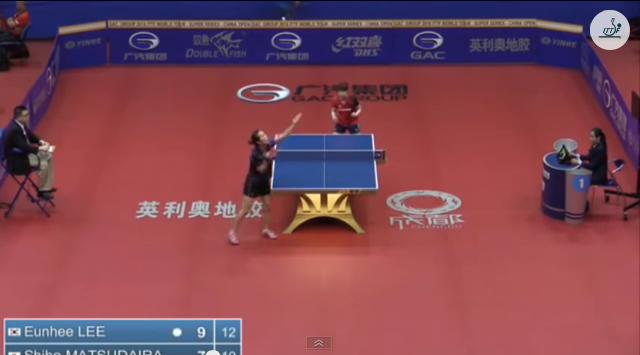 China Open 2014 Highlights: Lee Eunhee Vs 松平志穂 (Q. Group) 卓球動画
