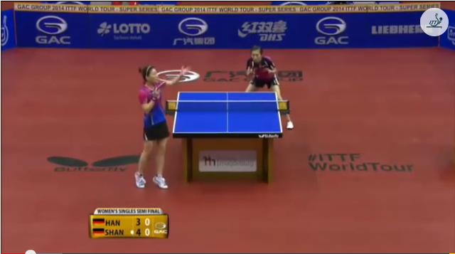 German Open 2014 Highlights: Han Ying Vs Shan Xiaona (1/2 Final) 卓球動画