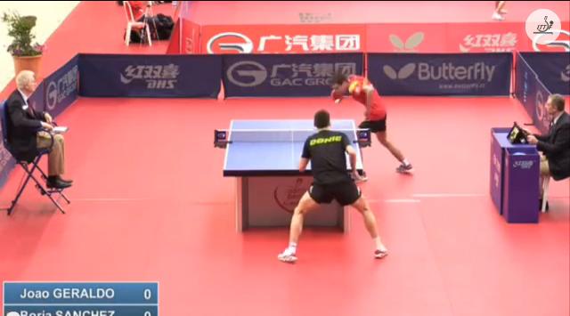 Spanish Open 2014 Highlights: Joao Geraldo Vs Borja Sanchez (U21 Q. Group) 卓球動画