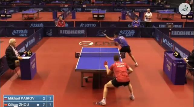 German Open 2014 Highlights: Mikhail Paikov vs Zhou Qihao (Pre. Round) 卓球動画