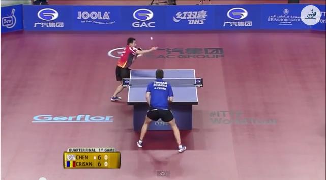 Qatar Open 2014 Highlights: Adrian Crisan vs Chen Chien-An (1/4 Final) 卓球動画