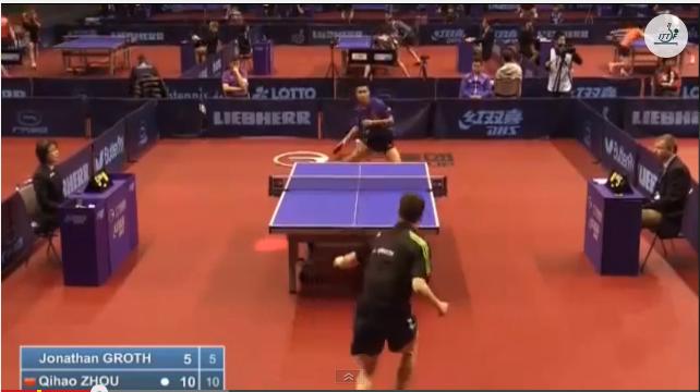 German Open 2014 Highlights: Jonathan Groth vs Zhou Qihao (Q.Group) 卓球動画