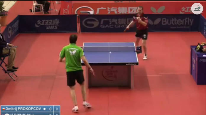 Spanish Open 2014 Highlights: Paul Drinkhall Vs Dimitrij Prokopcov (Quarter Final) 卓球動画