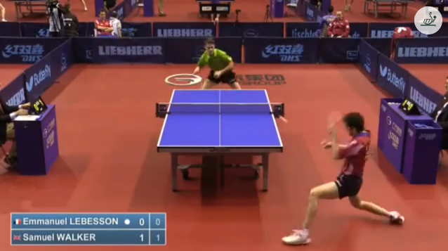 German Open 2014 Highlights: Emmanuel Lebesson vs Samuel Walker (Q.Group) 卓球動画
