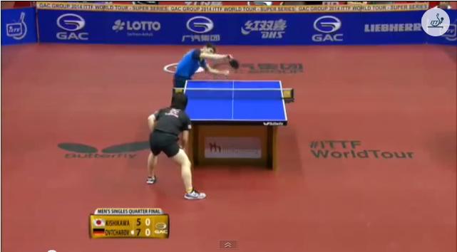 German Open 2014 Highlights: Dimitrij Ovtcharov vs 岸川聖也 (Quarter Final) 卓球動画