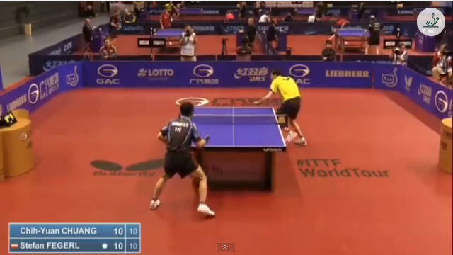 German Open 2014 Highlights: 荘智淵 vs Stefan Fengerl (Round 1) 卓球動画