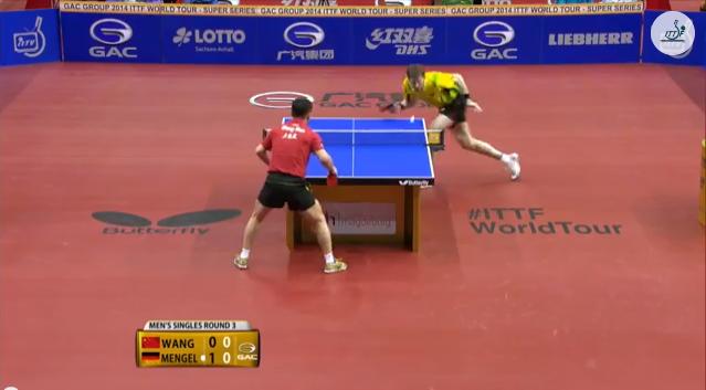 German Open 2014 Highlights: Steffen Mengel vs 王皓 (3rd Round) 卓球動画