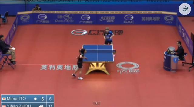 China Open 2014 Highlights: 伊藤美誠 Vs Zhou Yihan (U21 1/2 Final) 卓球動画