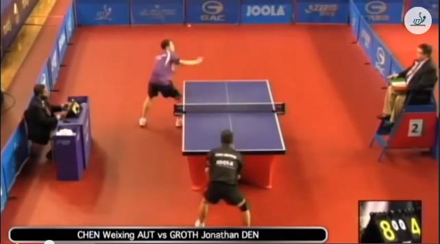 Qatar Open 2014 Highlights: Chen Weixing vs Jonathan Groth 卓球動画