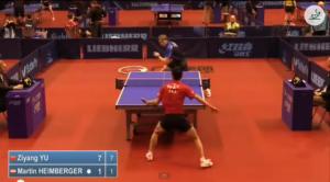 German Open 2014 Highlights: YU Zijang Vs Martin Heimberger (Q.Group) 卓球動画